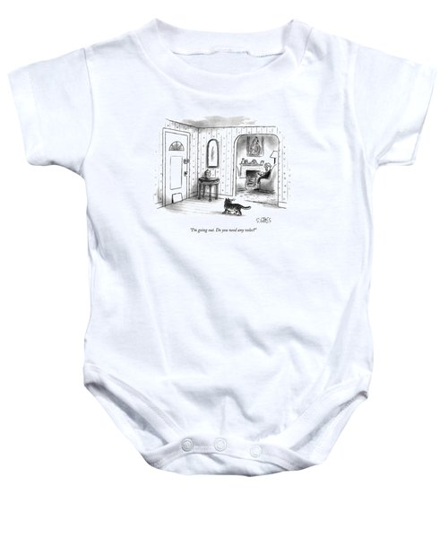 I'm Going Out.  Do You Need Any Voles? Baby Onesie