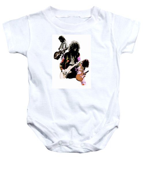 In Flight Iv Jimmy Page  Baby Onesie by Iconic Images Art Gallery David Pucciarelli