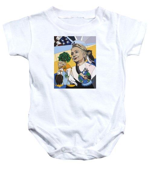In Honor Of Hillary Clinton Baby Onesie