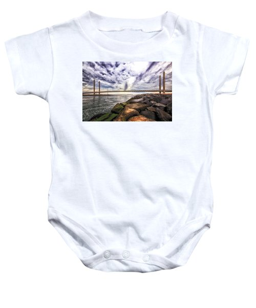 Indian River Bridge Clouds Baby Onesie