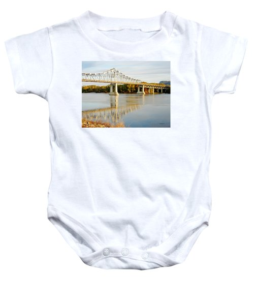 Interstate Bridge In Winona Baby Onesie