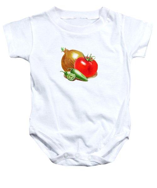Jalapeno Onion Tomato Baby Onesie