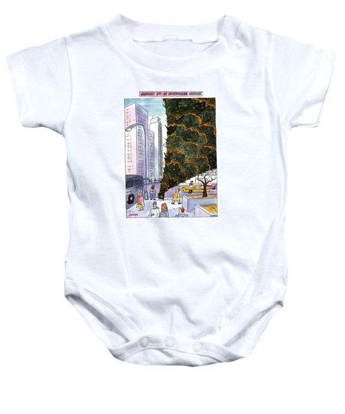 January 3rd At Rockefeller Center Baby Onesie