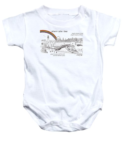Jerusalem With Rainbow Baby Onesie