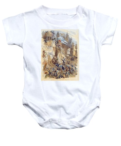 Joan Of Arc At The Assault Of The Tournelles Colour Litho Baby Onesie