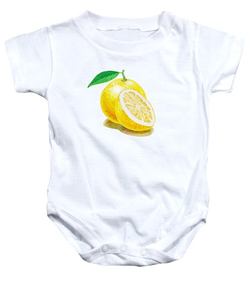 Baby Onesie featuring the painting Juicy Grapefruit by Irina Sztukowski