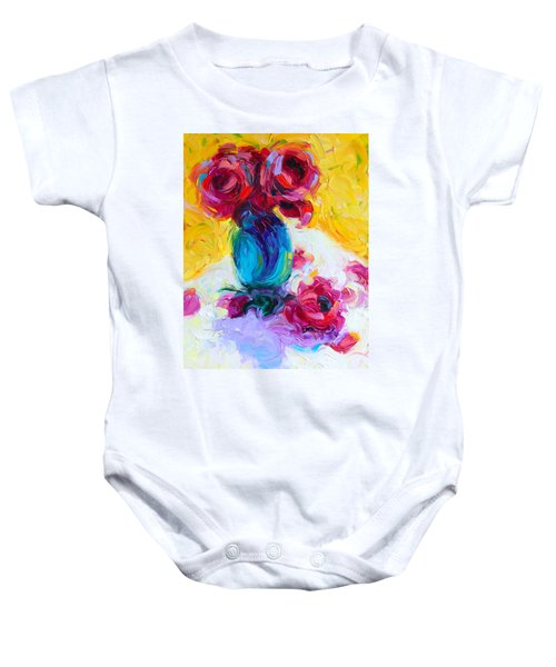 Just Past Bloom - Roses Still Life Baby Onesie