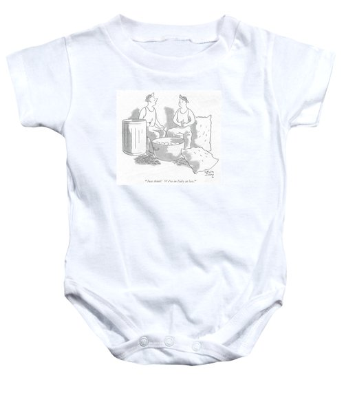 Just Think! We're In Italy At Last Baby Onesie by Chon Day