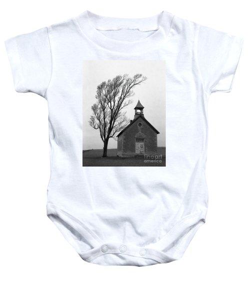 Kansas Schoolhouse Baby Onesie
