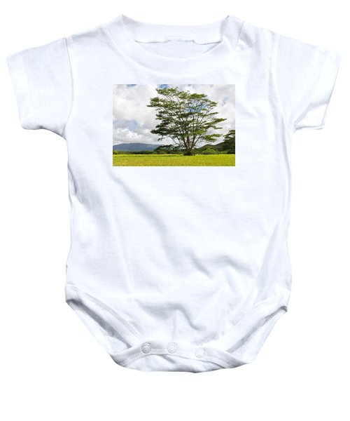 Baby Onesie featuring the photograph Kauai Umbrella Tree by Shane Kelly