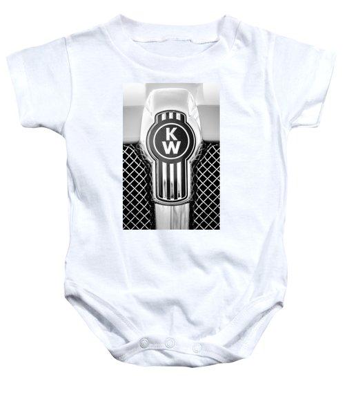 Kenworth Truck Emblem -1196bw Baby Onesie
