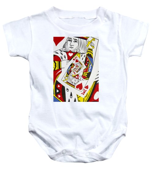 King Of Hearts Collage Baby Onesie