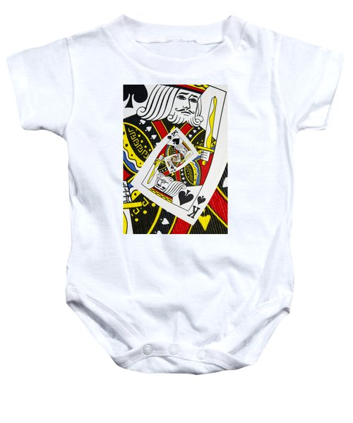 King Of Spades Collage Baby Onesie
