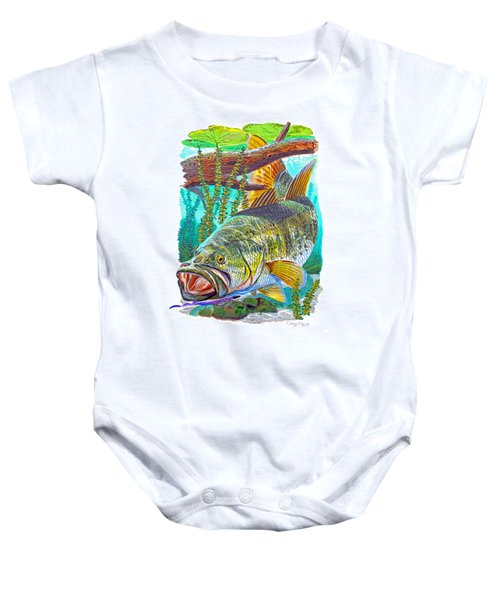 Largemouth Bass Baby Onesie by Carey Chen