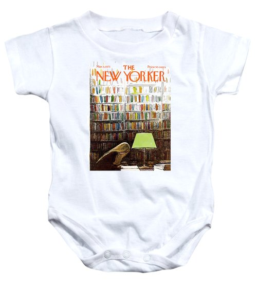 Late Night At The Library Baby Onesie