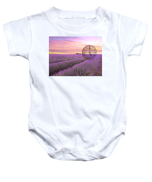 Lavender Time Baby Onesie