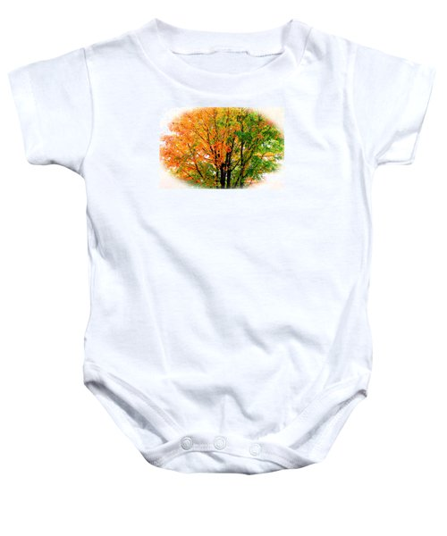 Leaves Changing Colors Baby Onesie