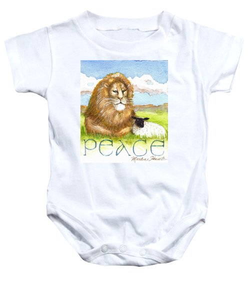 Lion And Lamb - Peace  Baby Onesie
