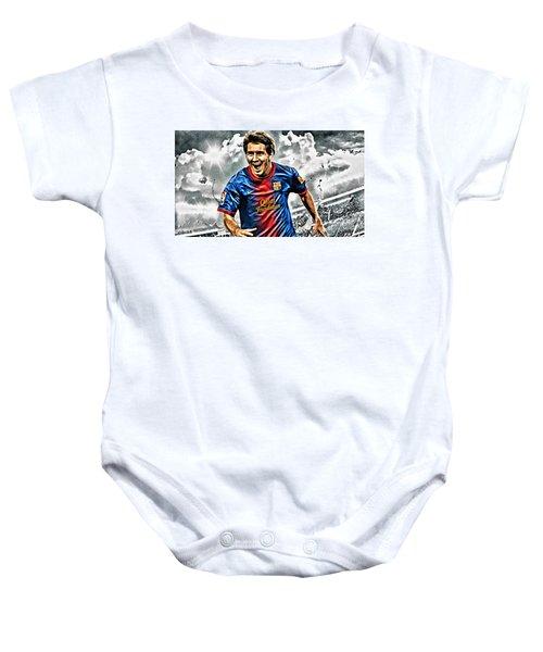 Lionel Messi Celebration Poster Baby Onesie