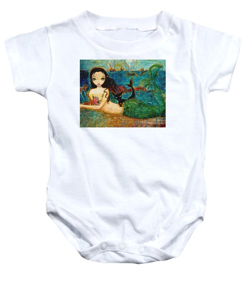 Little Mermaid Baby Onesie by Shijun Munns