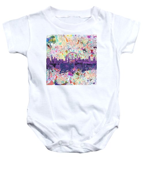 London Skyline Abstract Baby Onesie