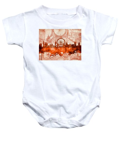 London Skyline Old Vintage 2 Baby Onesie