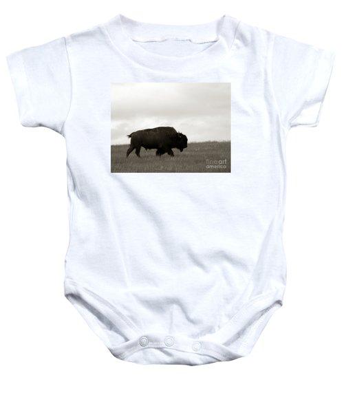 Lone Bison Baby Onesie