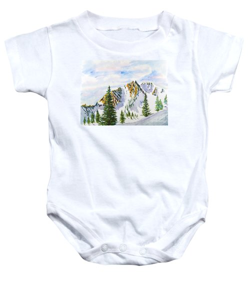 Lone Tree In The Morning Baby Onesie