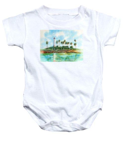 Long Beach Lighthouse  Version 2 Baby Onesie