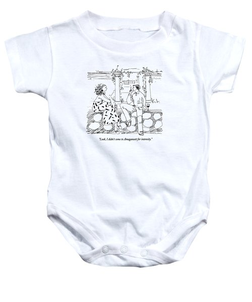 Look, I Didn't Come To Amagansett For Intensity Baby Onesie
