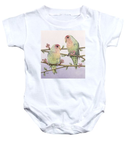 Love Birds Baby Onesie