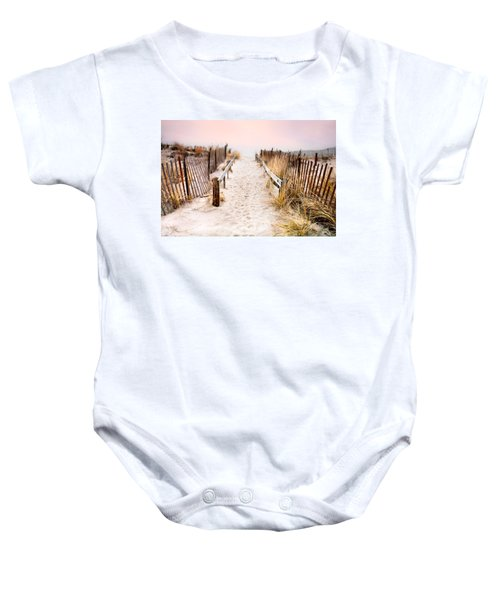 Love Is Everything - Footprints In The Sand Baby Onesie