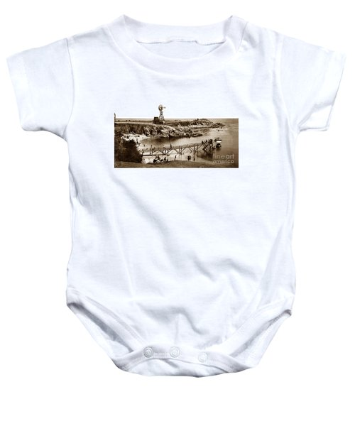 Lovers Point Beach And Old Wooden Pier Pacific Grove August 18 1900 Baby Onesie