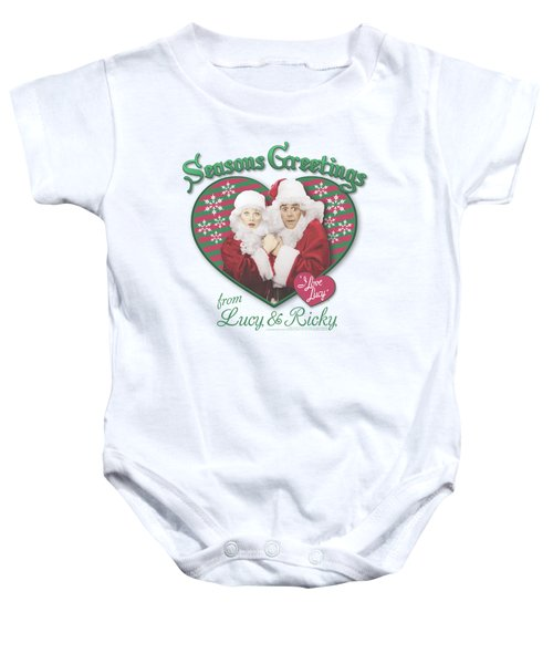 Lucy - Seasons Greetings Baby Onesie