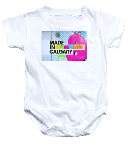 Made In Calgary Baby Onesie