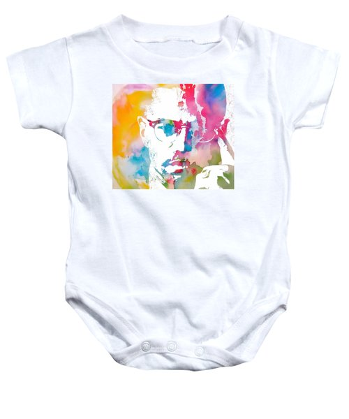Malcolm X Watercolor Baby Onesie