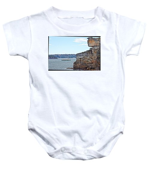 Baby Onesie featuring the photograph Manly Ferry Passing By  by Miroslava Jurcik