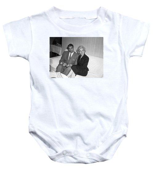 Marilyn Monroe And Joe Dimaggio Baby Onesie
