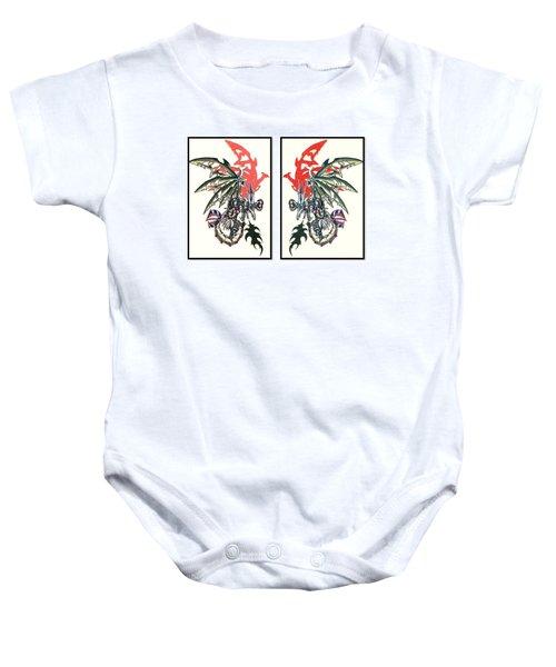 Mech Dragons Collide Baby Onesie