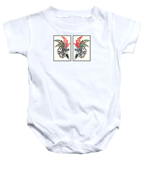 Mech Dragons Collide Baby Onesie