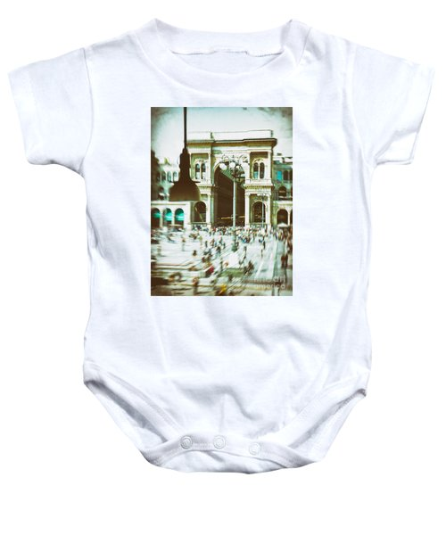 Baby Onesie featuring the photograph Milan Gallery by Silvia Ganora