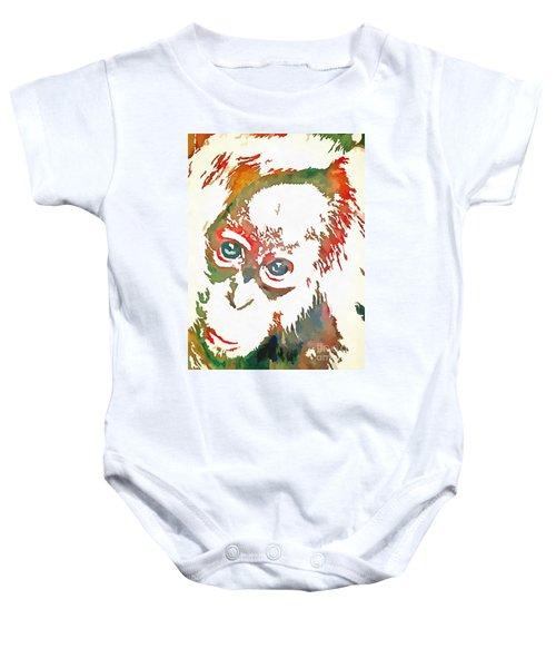 Monkey Pop Art Baby Onesie