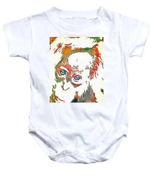 Monkey Pop Art Baby Onesie