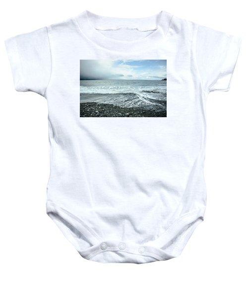 Moody Waves French Beach Baby Onesie