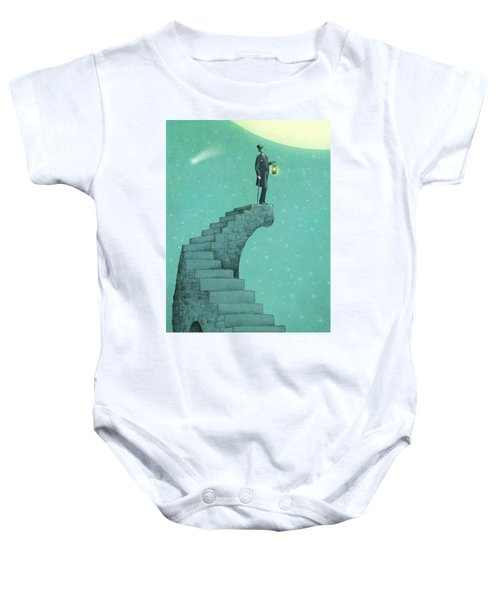 Moon Steps Baby Onesie