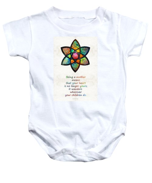 Mother Mom Art - Wandering Heart - By Sharon Cummings Baby Onesie