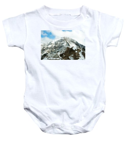 Mountain Covered With Snow Baby Onesie