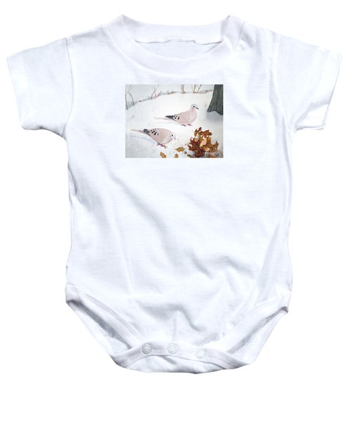 Mourning Doves Baby Onesie