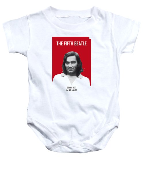 My Best Soccer Legend Poster Baby Onesie by Chungkong Art