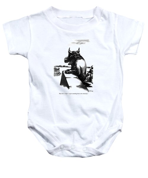 My Wish Is Simple - To Give Something Back Baby Onesie
